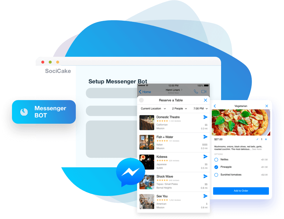 socicake review messenger bot