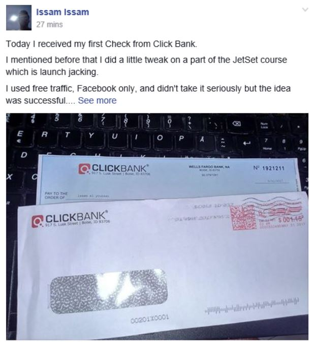 Affiliate earnings from clickbank